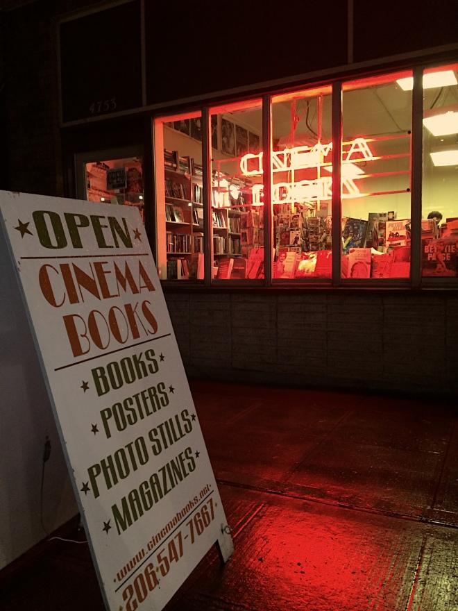 Cinema Books Sign