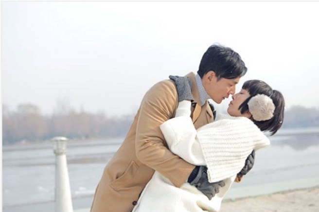 Dr. Liang (Daniel Wu) and his patient Xiong Dun (Bai Baihe) in the Chinese film, Go Away Mr Tumor. Xiong has watched lots of Korean TV dramas and she has a crush on Dr. Liang, so she often imagines scenes like this one.